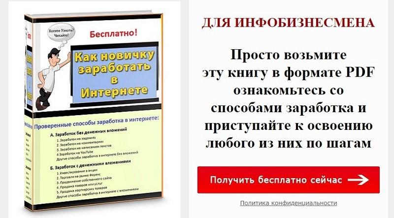 «Как новичку заработать в интернете» — презентация книги для начинающих